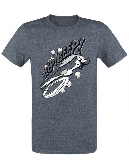 Looney Tunes Roadrunner - Beep! Beep! T-shirt marine chiné