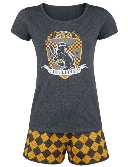 Harry Potter Hufflepuff Quidditch Pyjama jaune/gris