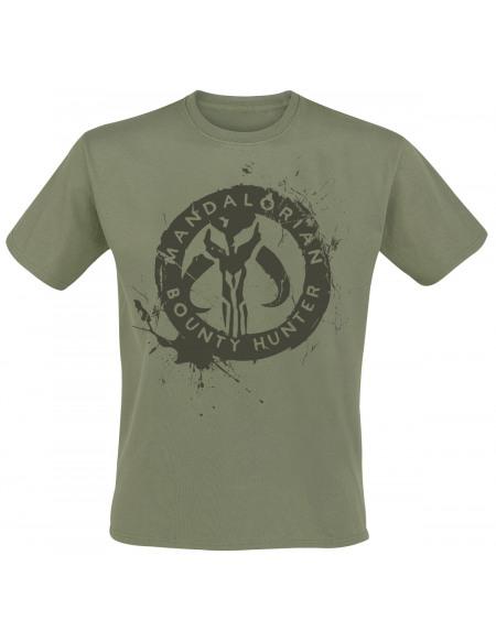 Star Wars The Mandalorian - Bounty Hunter T-shirt olive