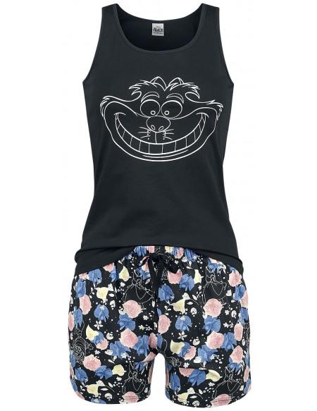 Alice Au Pays Des Merveilles Cheshire Cat - Floral Pyjama multicolore