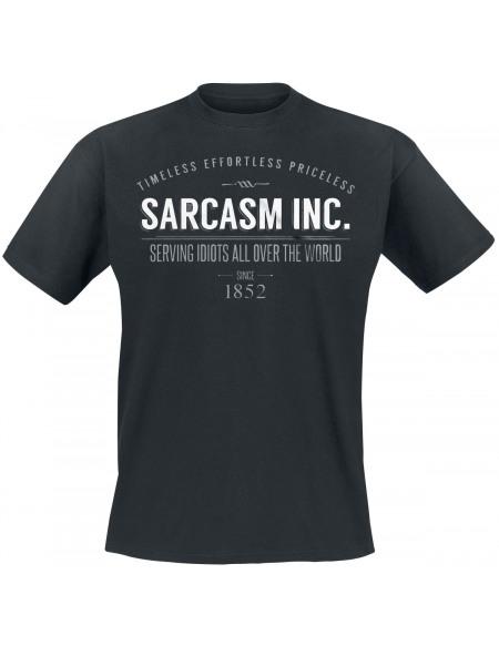 Sarcasm Inc. T-shirt noir