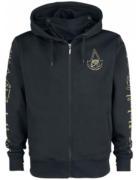 Assassin's Creed Origins - Hyroglyph Sweat Zippé à Capuche noir