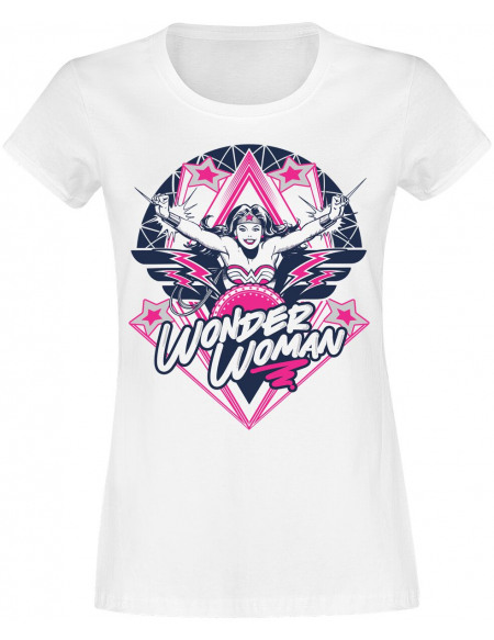 Wonder Woman Stars T-shirt Femme blanc