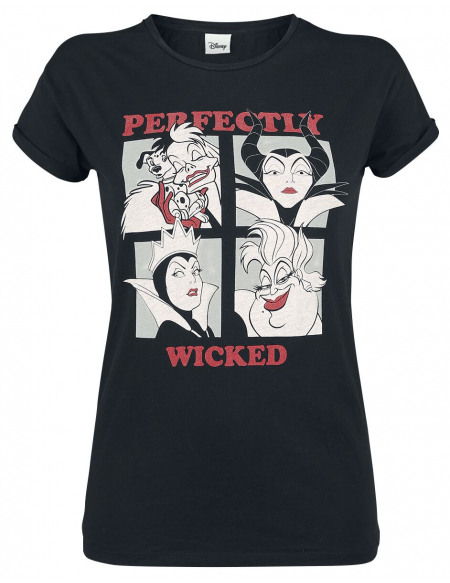 Disney Villains Perfectly Wicked T-shirt Femme noir