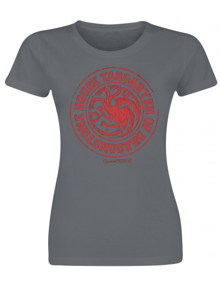 Game Of Thrones House Targaryen Of Dragonstone T-shirt Femme anthracite