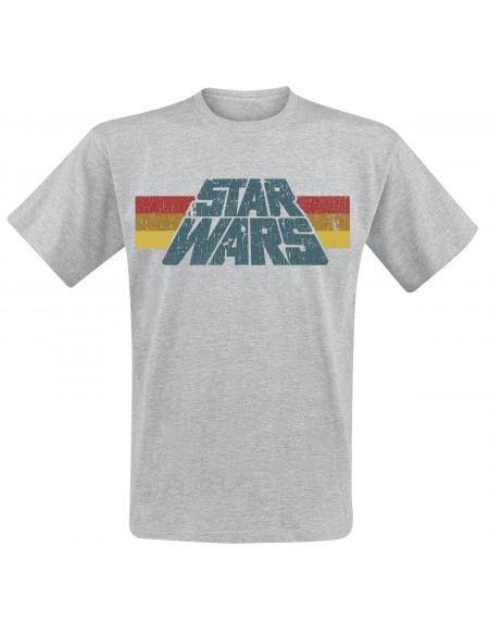 Star Wars Vintage 77 T-shirt gris chiné
