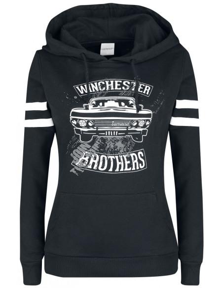 Supernatural Winchester Bros Sweat à Capuche Femme noir
