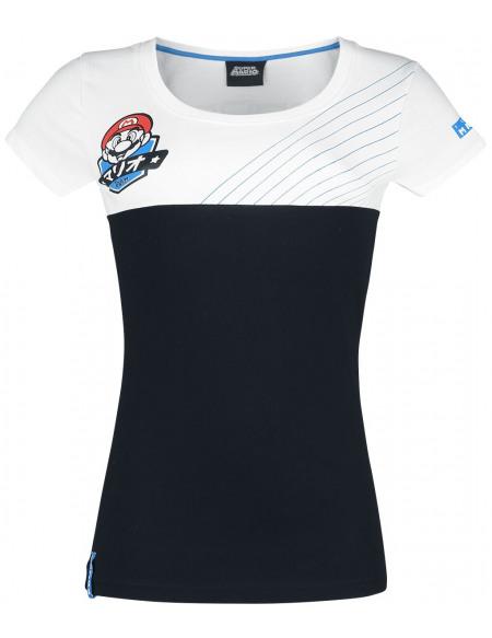 Super Mario Équipe T-shirt Femme noir/blanc