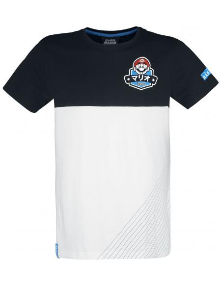 Super Mario Équipe T-shirt noir/blanc