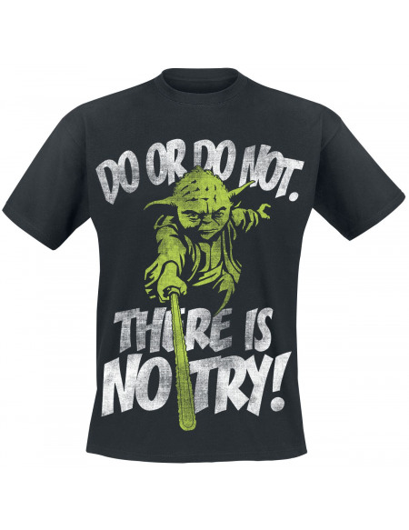 Star Wars Yoda - There Is No Try T-shirt noir