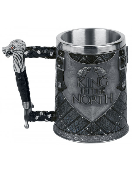 Game Of Thrones Chope À Bière King In The North Chope à bière multicolore