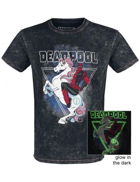 Deadpool Brille Dans Le Noir T-shirt noir