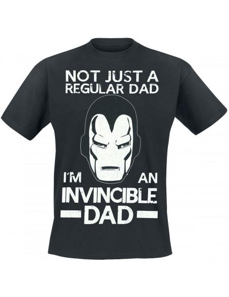 Iron Man Not Regular Dad T-shirt noir