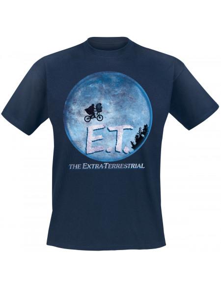 E.T. - the Extra-Terrestrial Moon Scene T-shirt marine