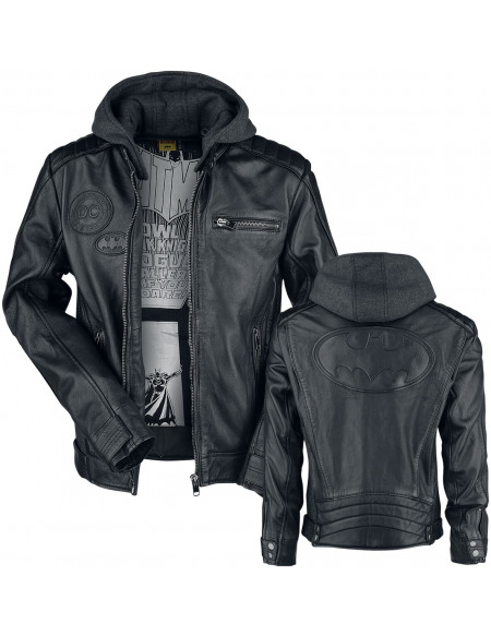 Justice League Batman - Cosplay Blouson en Cuir chiné noir/gris