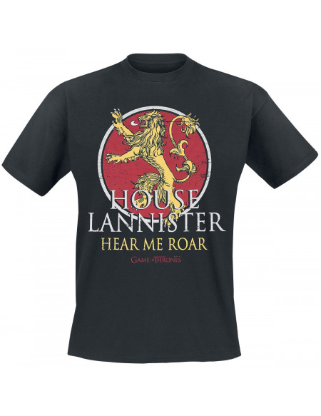 Game Of Thrones Maison Lannister - Hear Me Roar T-shirt noir