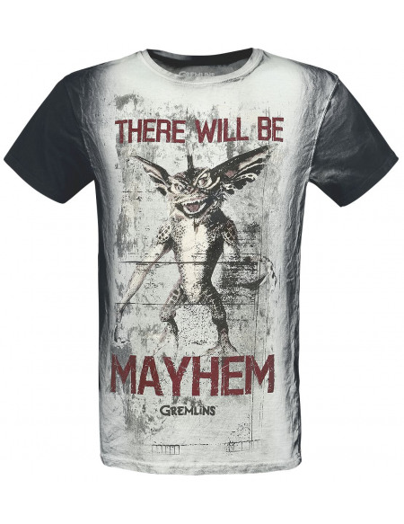 Gremlins There Will Be Mayhem T-shirt blanc cassé/gris