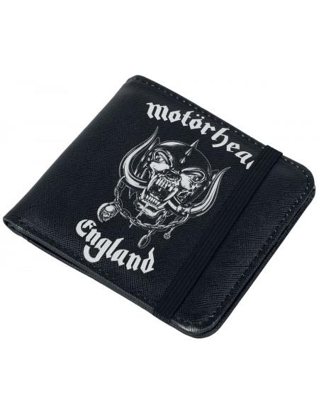 Motörhead England Portefeuille noir