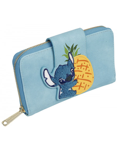 Lilo & Stitch Loungefly - Ananas Portefeuille bleu