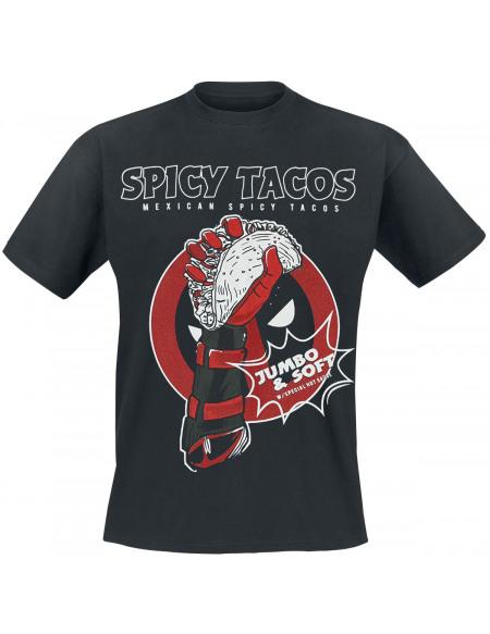 Deadpool Spicy Tacos T-shirt noir
