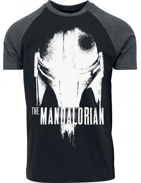 Star Wars The Mandalorian - Casque Craquelé T-shirt gris
