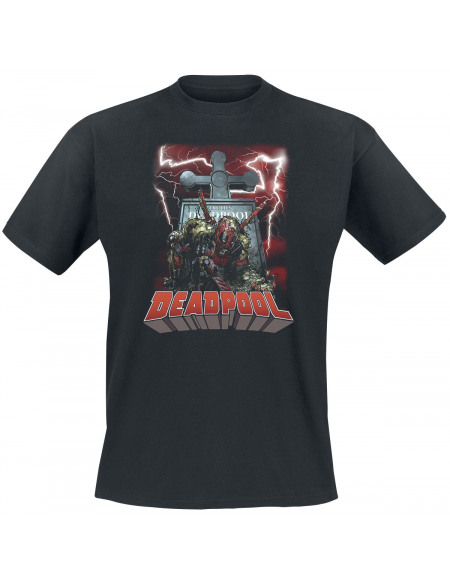 Deadpool ZombiePool T-shirt noir