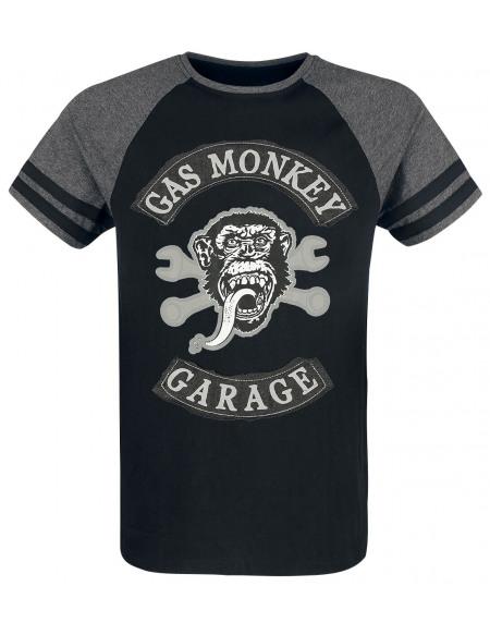 Gas Monkey Garage Monkey T-shirt chiné noir/gris