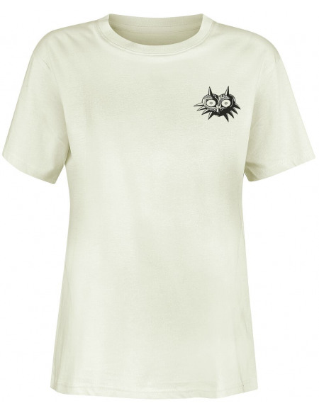 The Legend Of Zelda Masque De Majoras T-shirt Femme blanc cassé