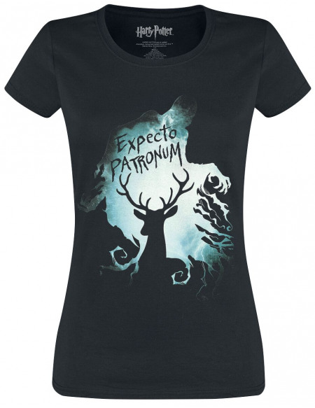 Harry Potter Expecto Patronum T-shirt Femme noir