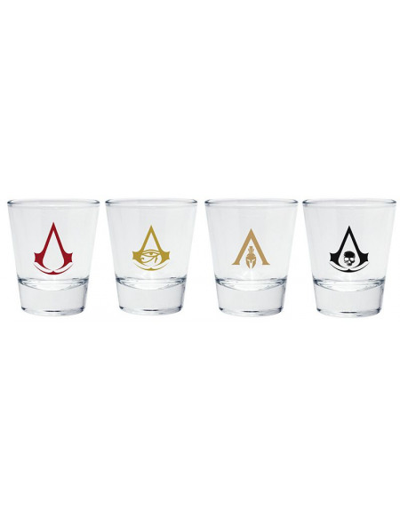 Assassin's Creed Embleme Set verres à shots transparent