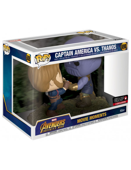 Avengers Infinity War - Captain America VS. Thanos - Funko Pop! Movie Moments n°698 Figurine de collection Standard