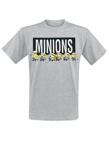 Les Minions Logo T-shirt gris clair chiné