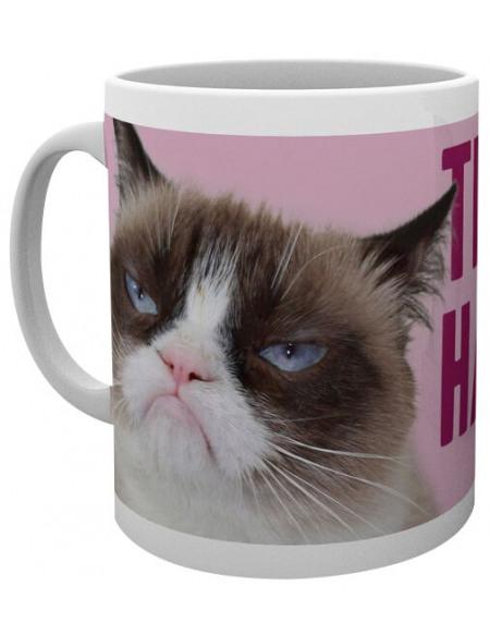 Grumpy Cat Happy Face Mug blanc