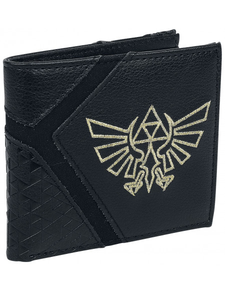 The Legend Of Zelda Symbole Hyrule Portefeuille noir/or