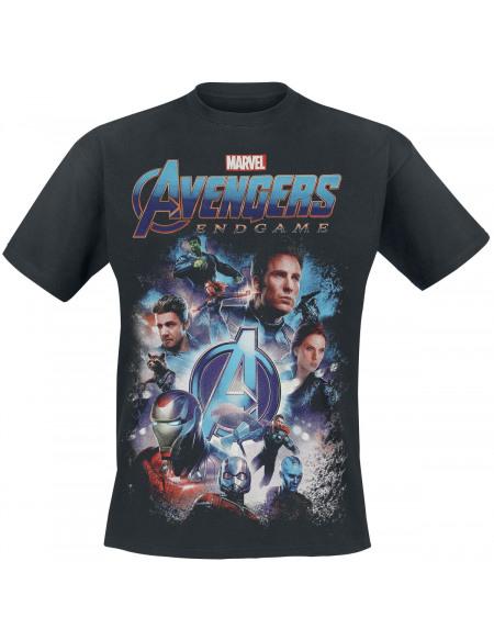 Avengers Endgame - Poster T-shirt noir