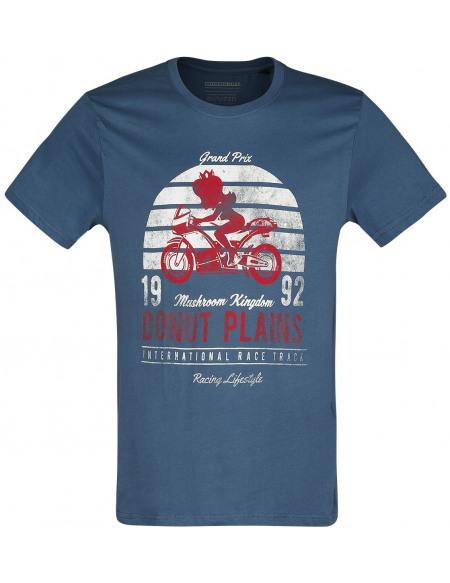 Super Mario Mario Kart - Princesse Peach - Garage Vintage T-shirt bleu