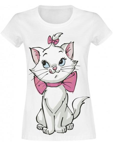 Les Aristochats Marie T-shirt Femme blanc
