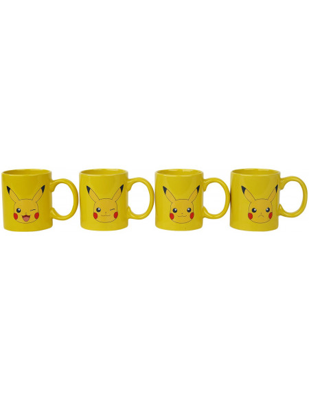 Pokémon Lot de Tasses Pikachu Set de Mugs multicolore