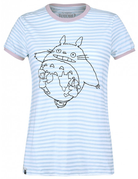Mon Voisin Totoro Totoro The Wind T-shirt Femme bleu clair/blanc