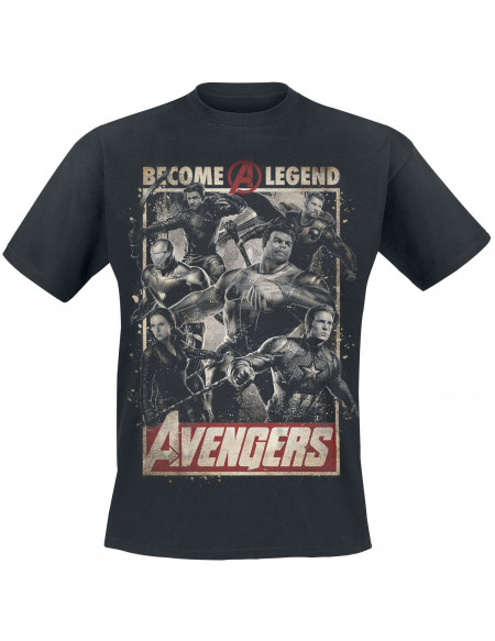 Avengers Endgame - Become A Legend T-shirt noir