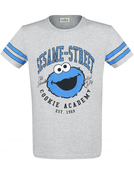 Sesame Street Cookie Academy T-shirt gris chiné