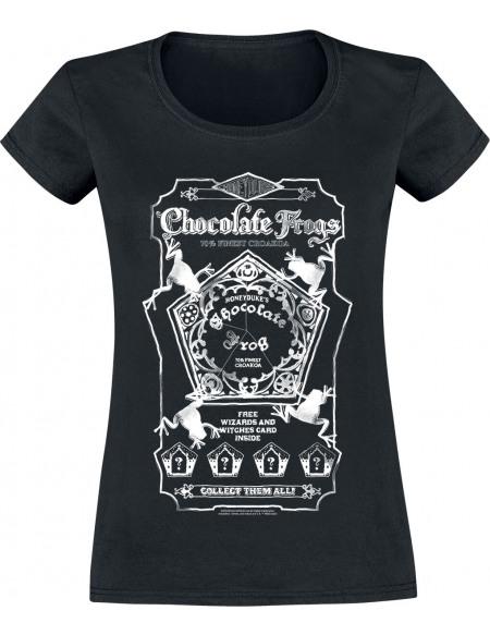 Harry Potter Chocolate Frogs T-shirt Femme noir