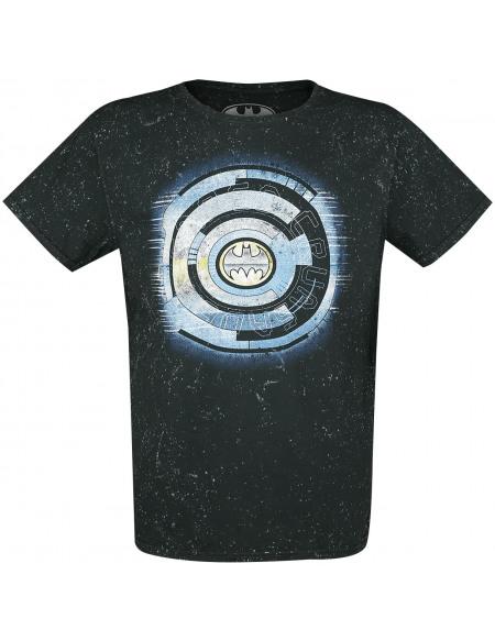 Batman Logo Tech T-shirt gris bleu