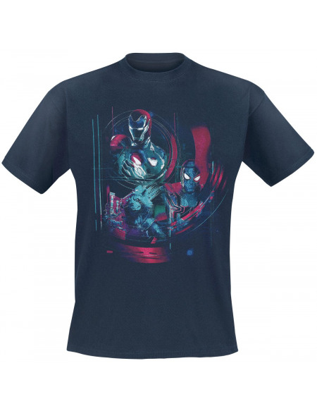 Avengers Infinity War - Iron Man, Spidey & Rocket T-shirt bleu