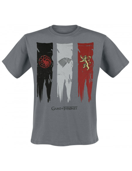 Game Of Thrones Drapeau Des Maisons T-shirt anthracite
