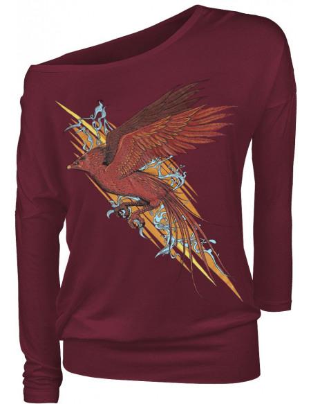 Harry Potter Phoenix Haut à manches longues bordeaux