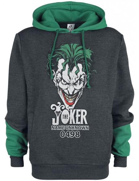 Batman The Joker Sweat à capuche gris chiné