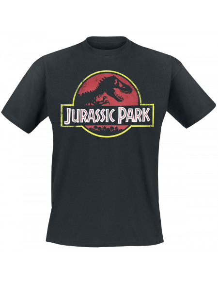 Jurassic Park Logo Classique T-shirt noir
