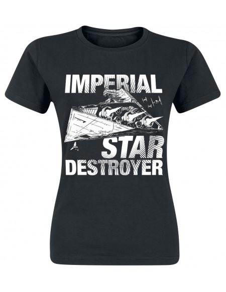 Star Wars Imperial Star Destroyer T-shirt Femme noir