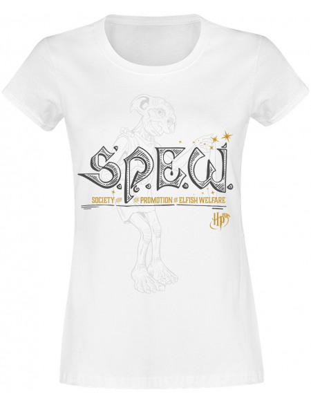 Harry Potter S.P.E.W. T-shirt Femme blanc